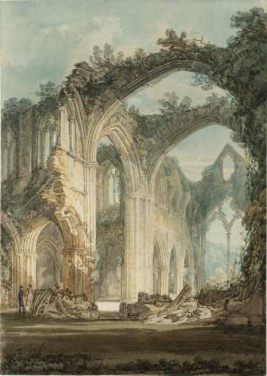 Tinturn Abbey by Turner