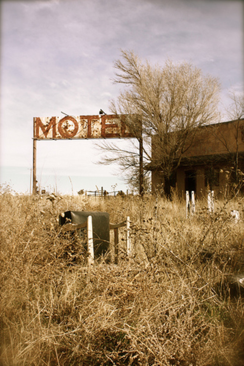 Abandoned Motel: Texhoma, Oklahoma, along Highway 54