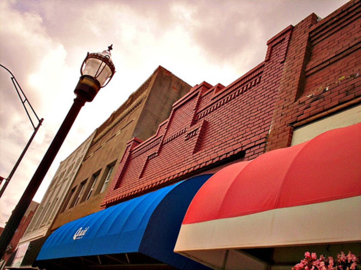 Restored Main Street Awnings