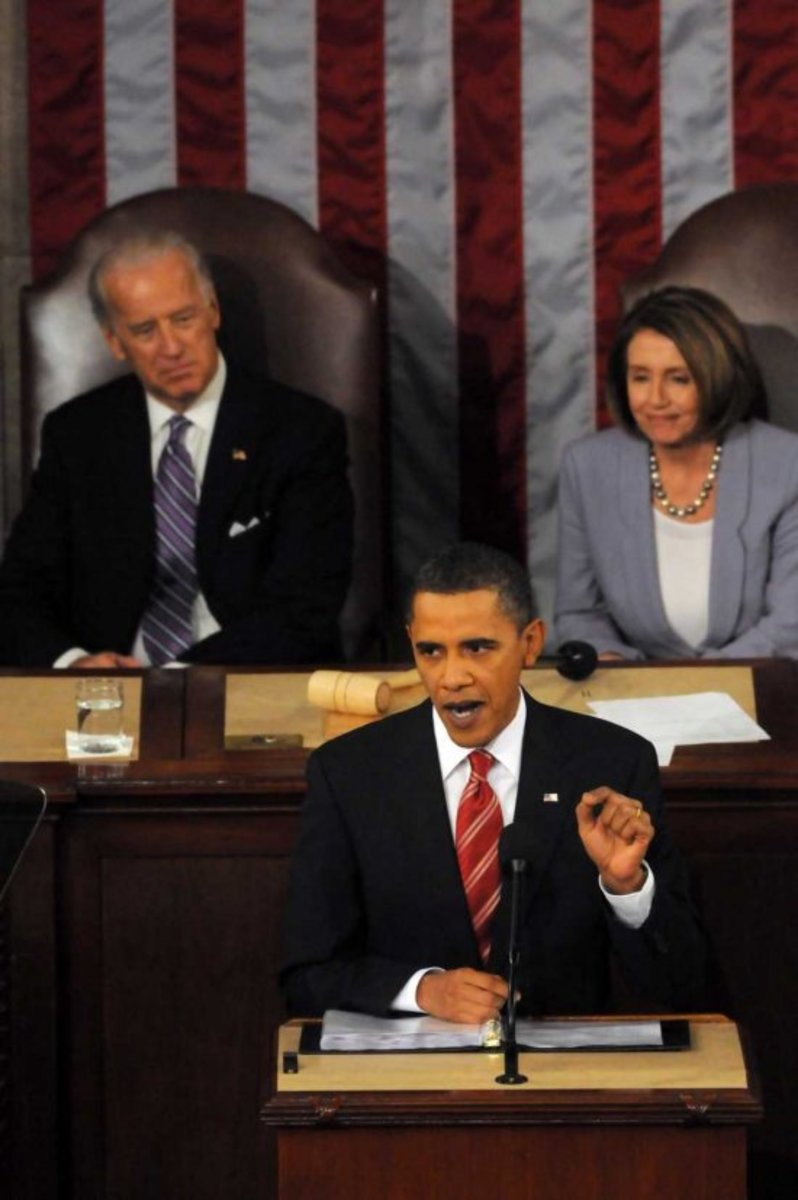[Obama addressing at the State of Union:]