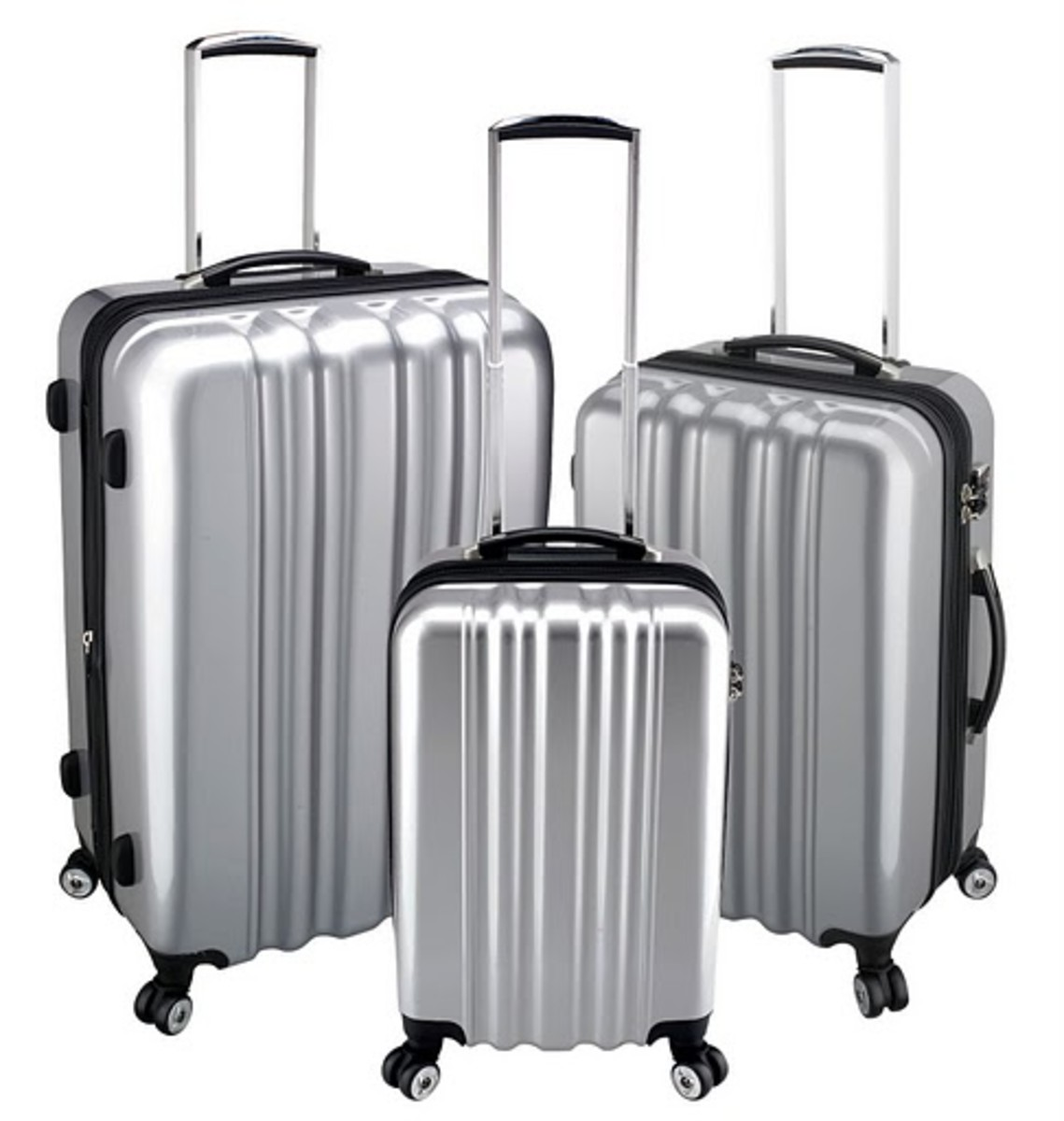 Heys zCase Collection in Metallic Silver http://www.airlineintl.com/catalog/zcase-spinner-collection-by-heys-usa