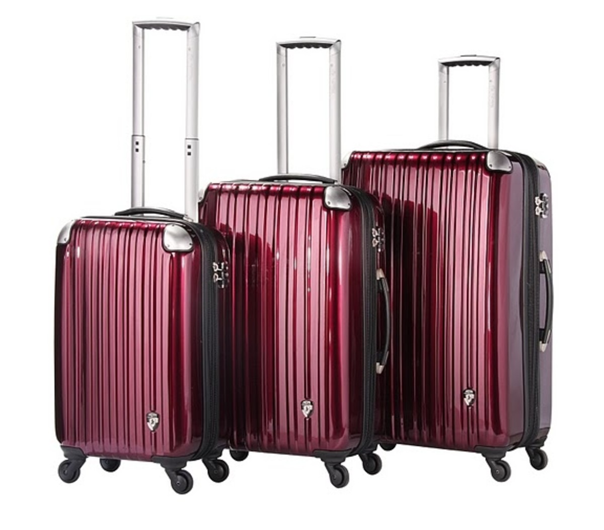 Heys Velocity Collection in Metallic Ruby Red http://www.airlineintl.com/catalog/velocity-collection-by-heys-usa