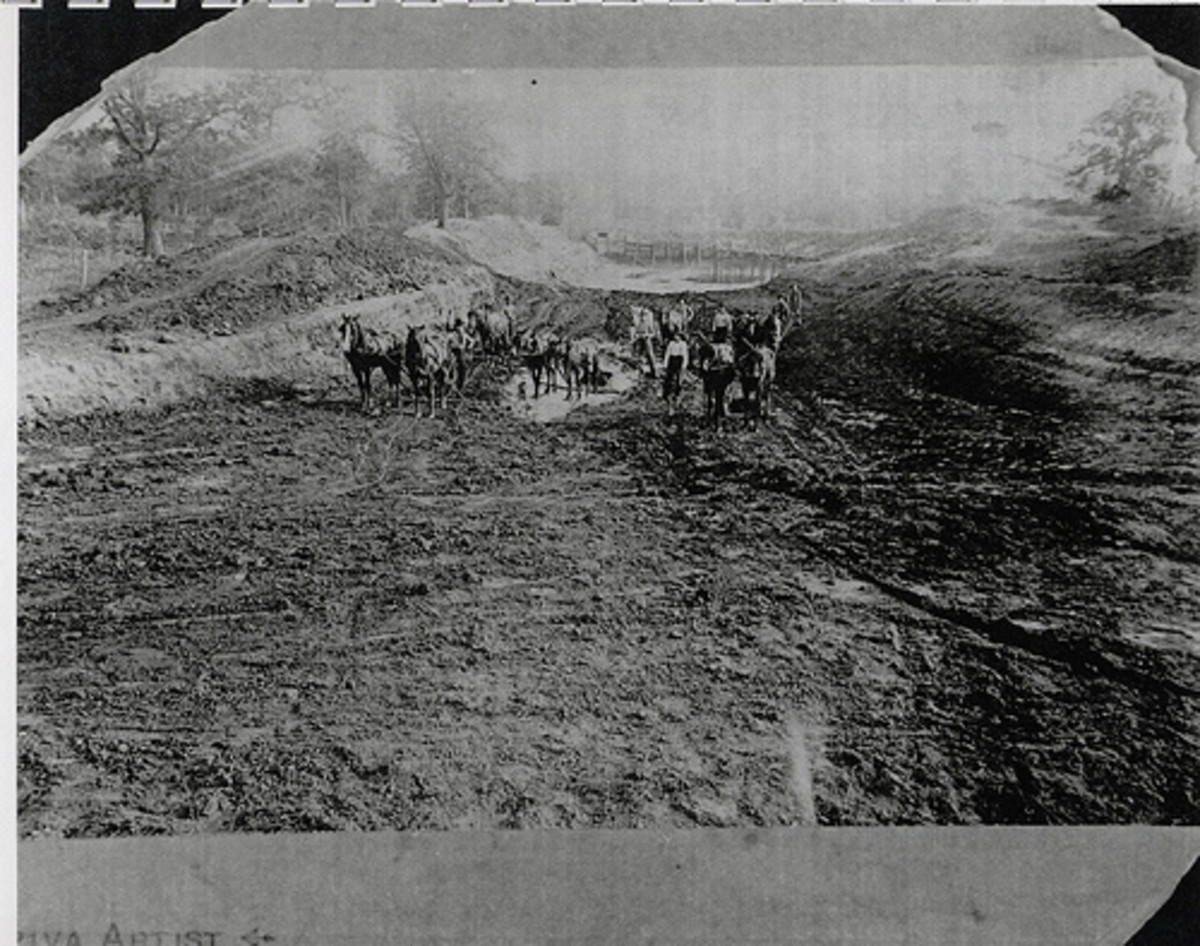 Farmers plowing in 1892.