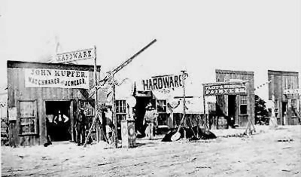 """A typical """"Main Street"""" - 1890's."""