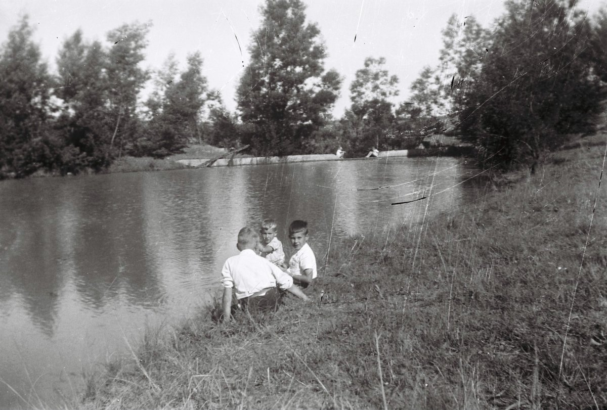The river of my childhood. Photo Tony McGregor, c1955