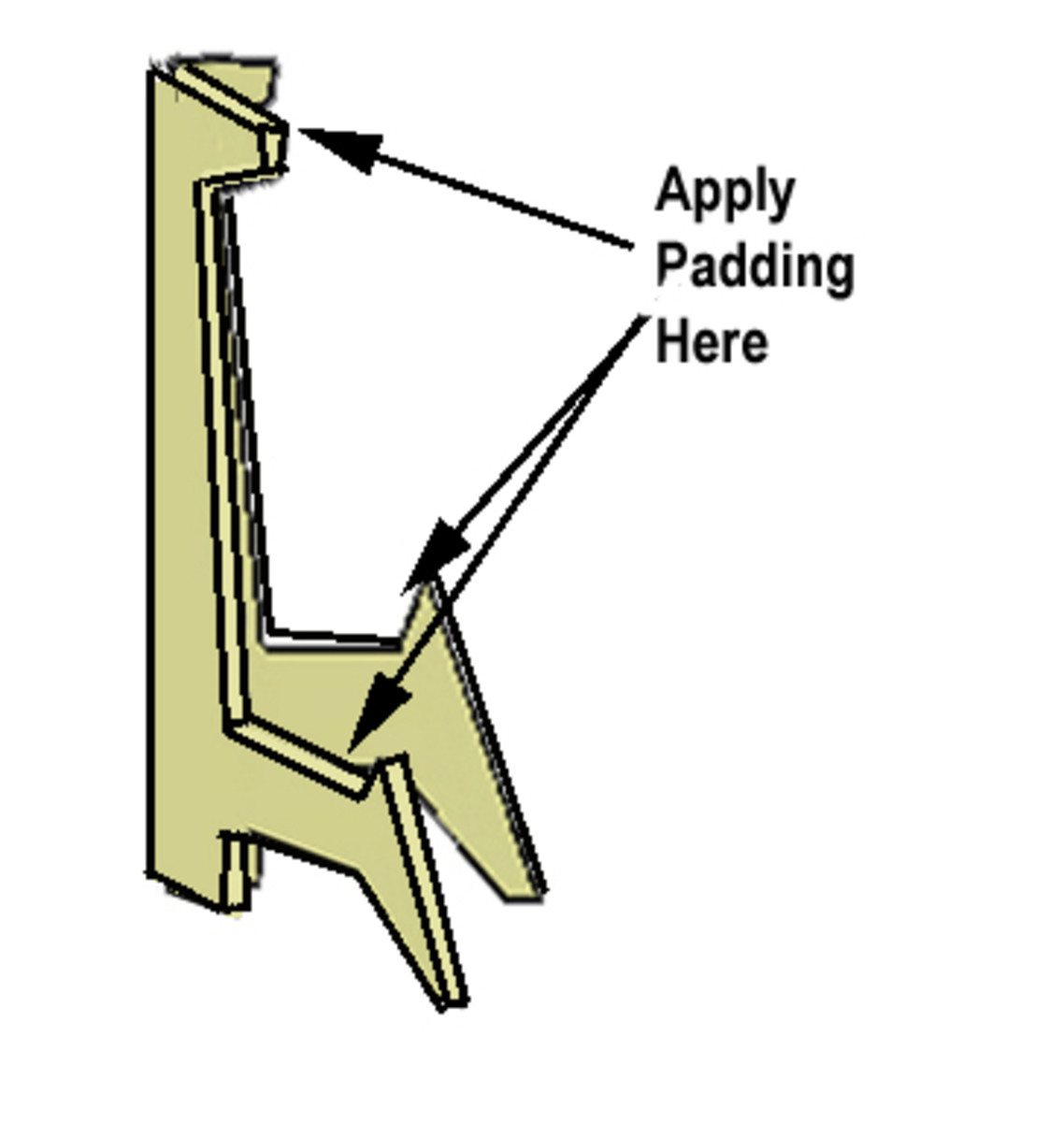 Use felt or foam to pad the head rest and saddle of the stand.
