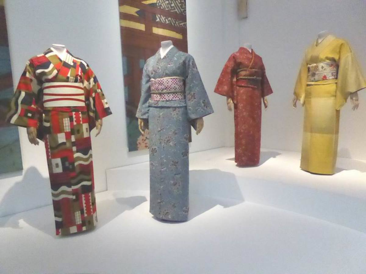"Kimono on Display at V&A ""Kimono: Kyoto to Catwalk"" Exhibition. Image by Frances Spiegel with permission from V&A Museum. All rights reserved."