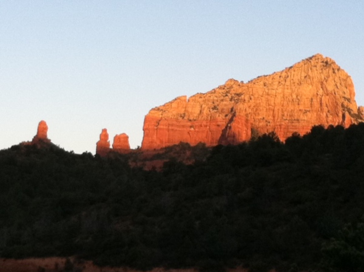 Just about 4 miles north of Sedona Arizona