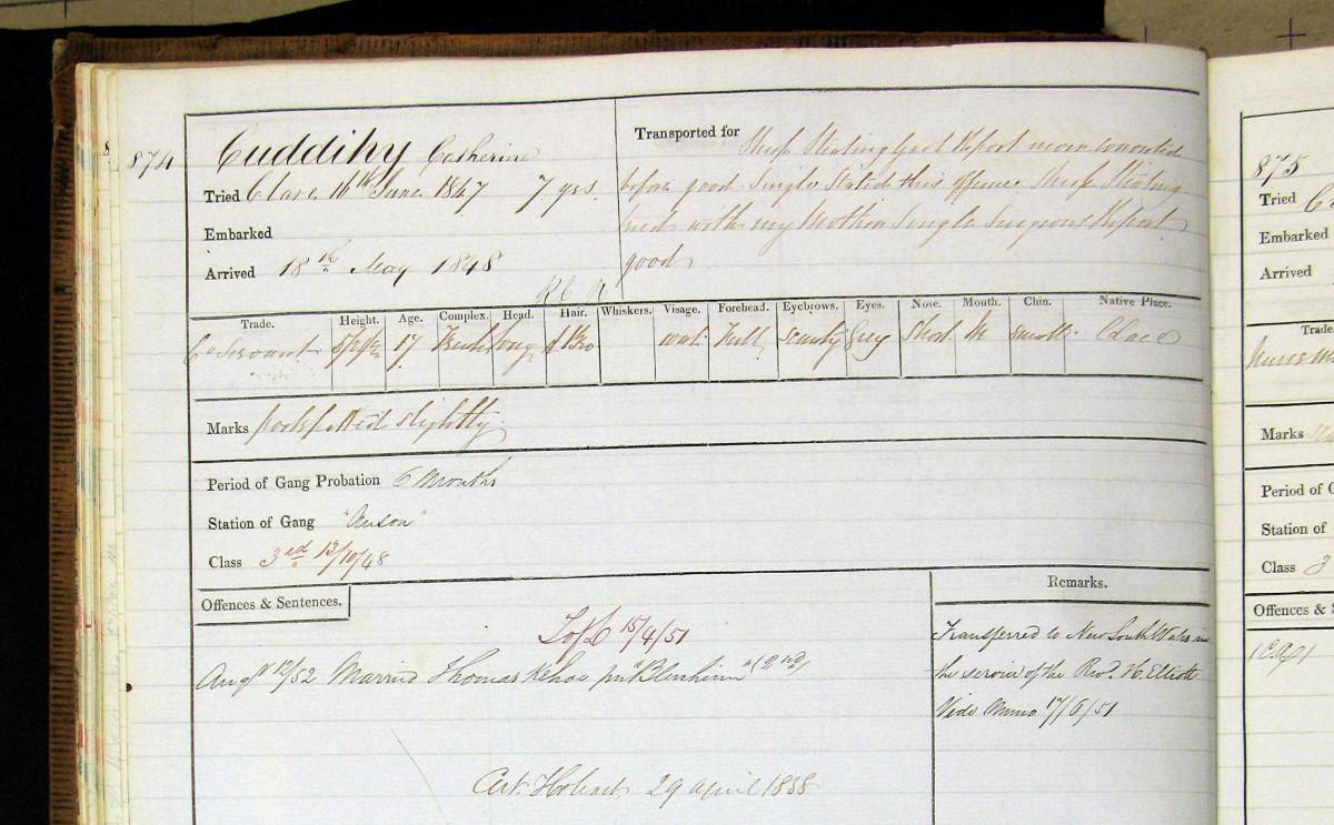 Prison Details Catherine Cuddihy