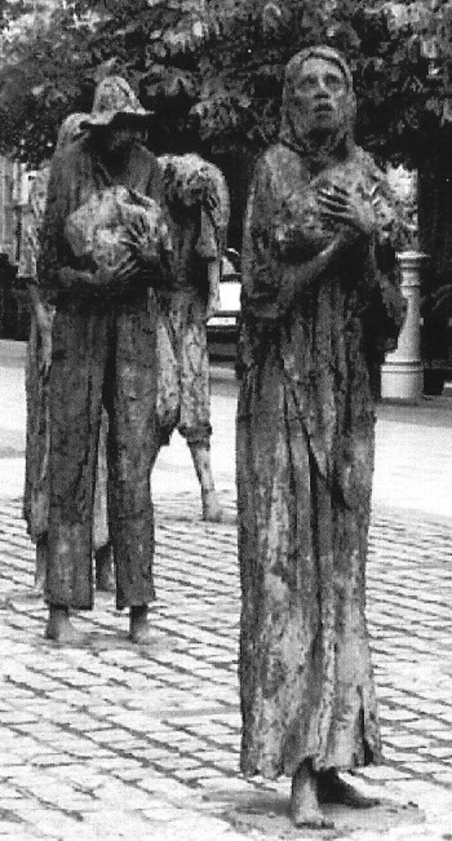 Irish Famine Memorial in Dublin Ireland