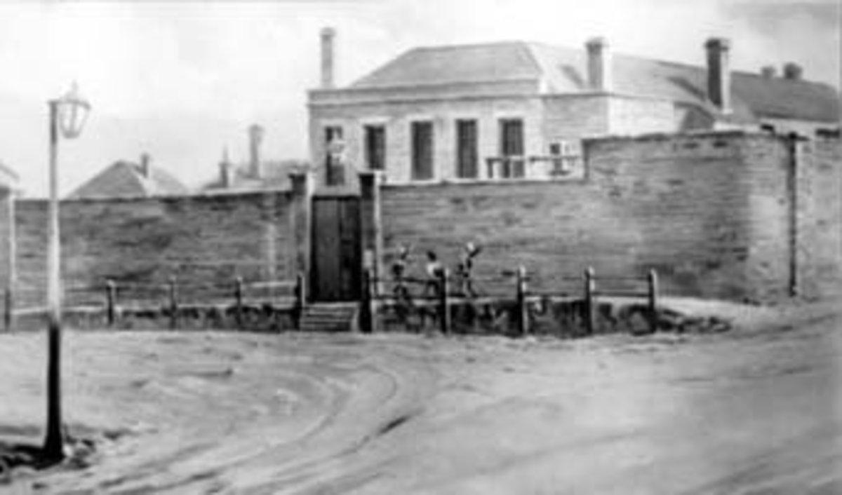Gaol in Hobart.