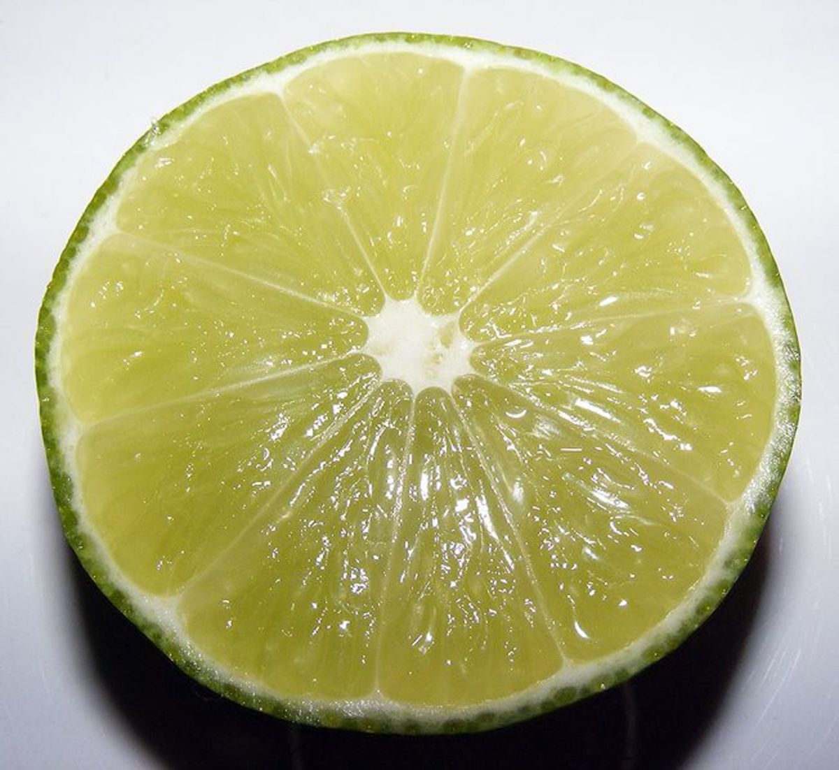This lime purchased in California was photographed by J.smith on October 29, 2008.