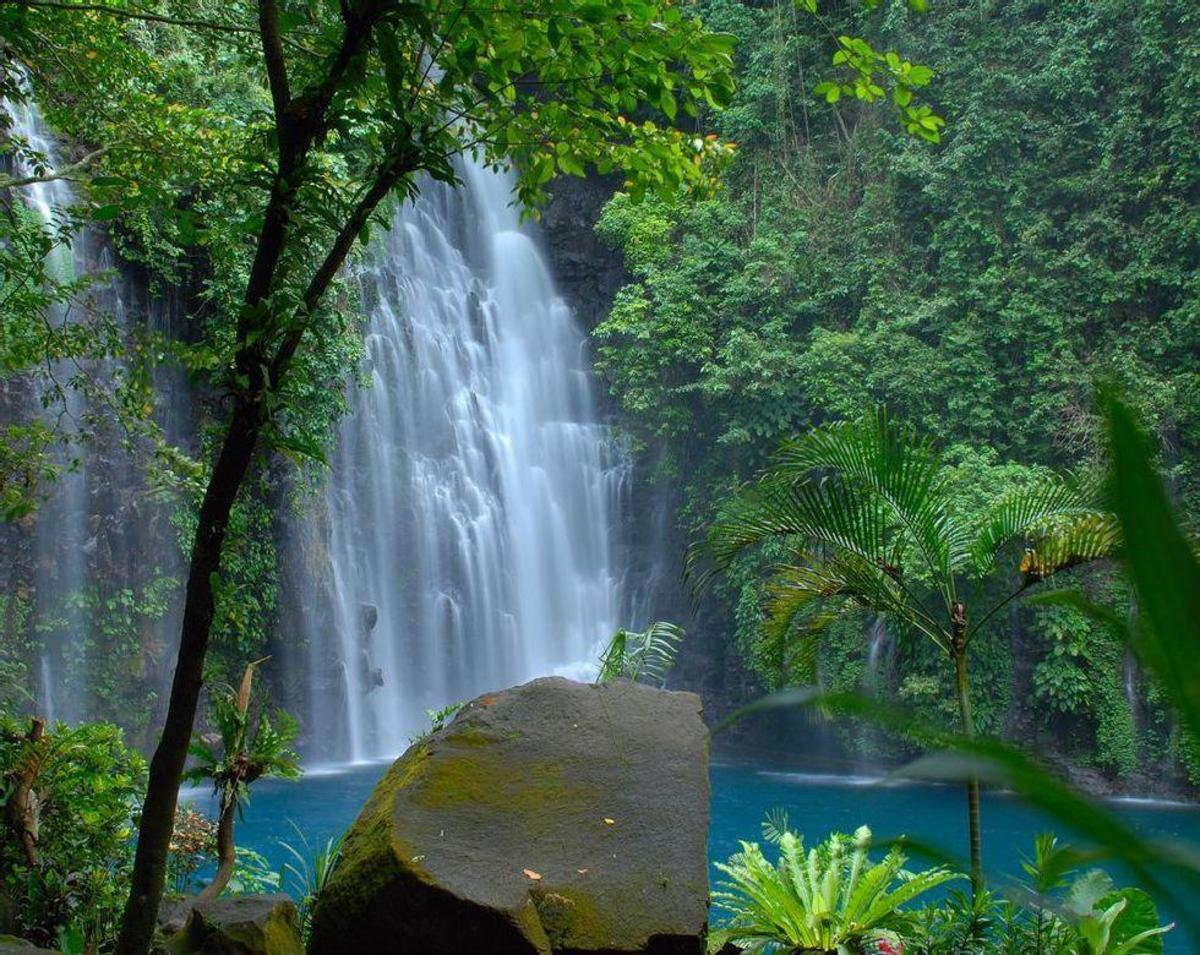 Tinago Falls is a waterfall in Iligan City, Lanao del Norte in the southern Philippine island of Mindanao. It is one of the main tourist attractions in Iligan, a city known as the City of Majestic Waterfalls.