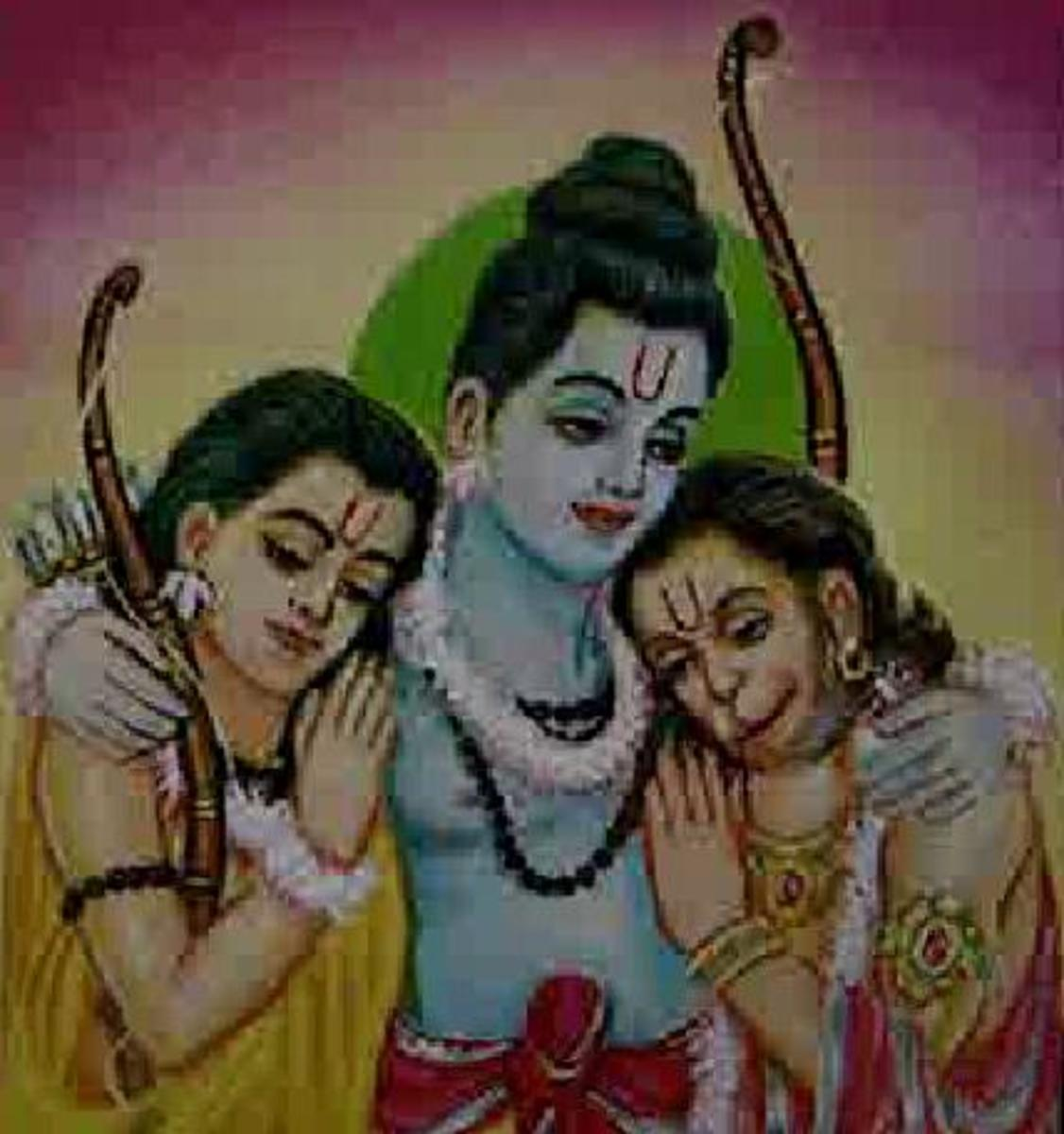 Picture depicting verse 14 of the Hanuman Chalisa