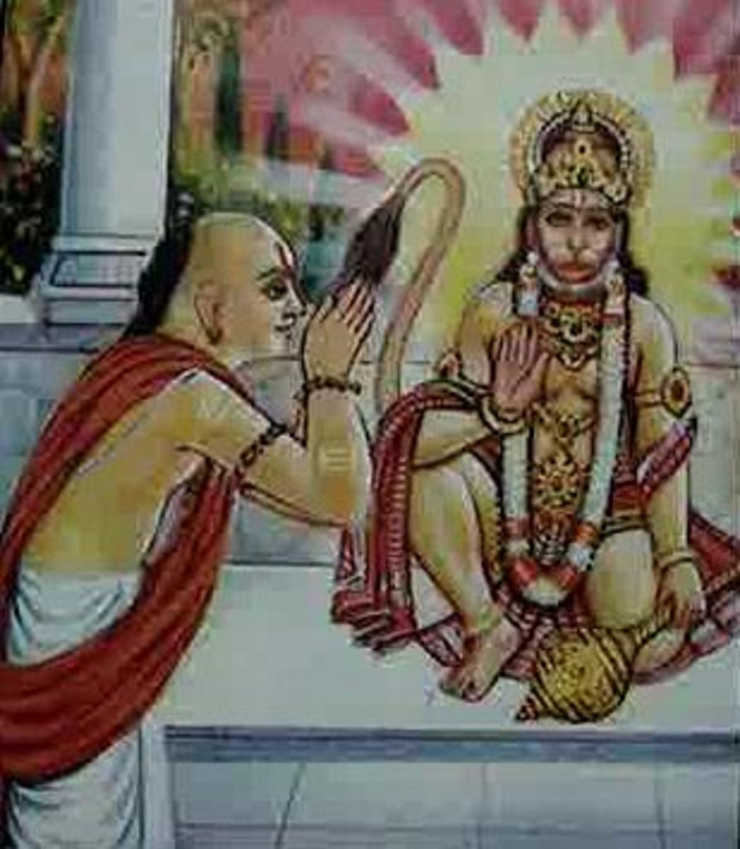 Picture depicting verse 2 of the Hanuman Chalisa
