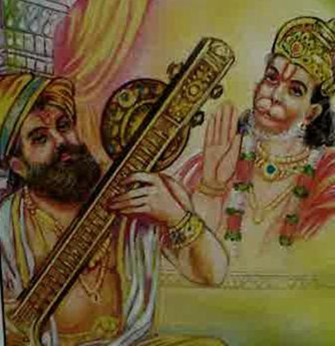 Picture depicting verse 35 of the Hanuman Chalisa