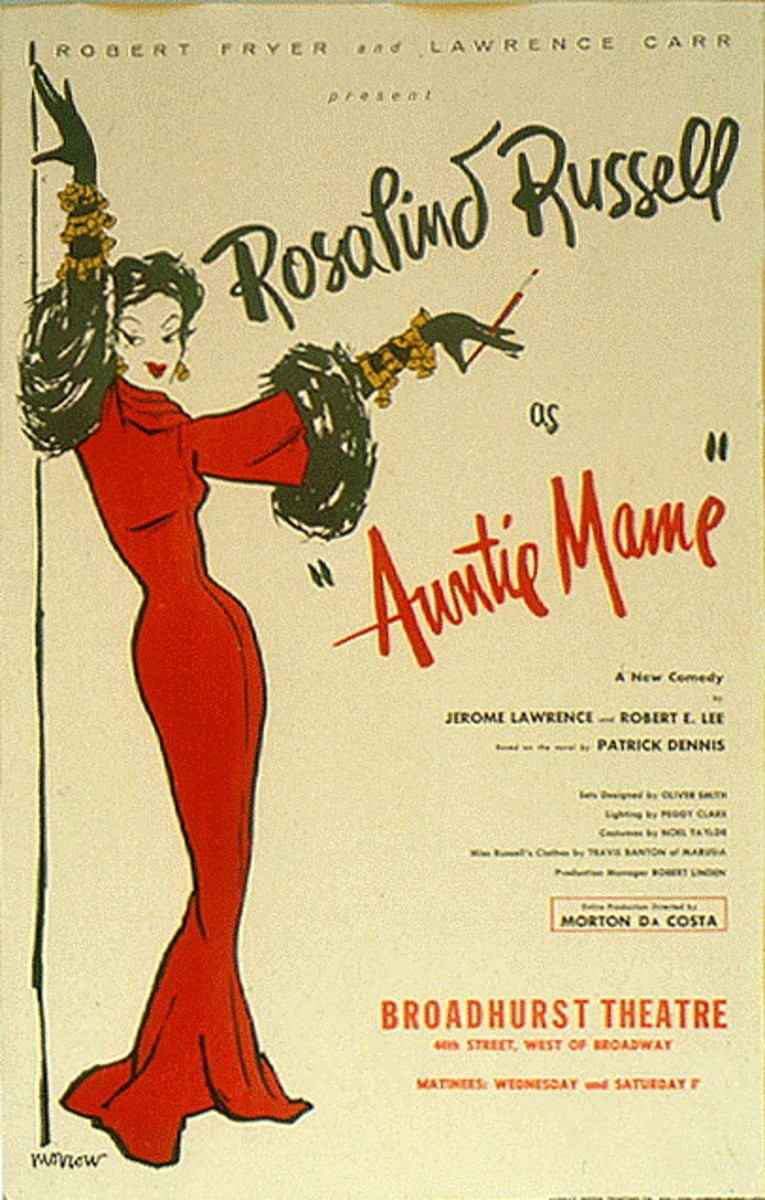 Auntie Mame poster - Rosaline Russel
