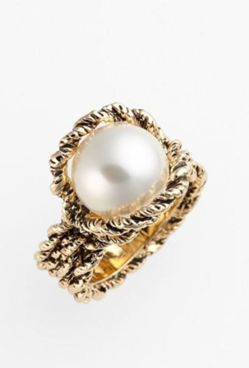 Pearl Ring by St. John