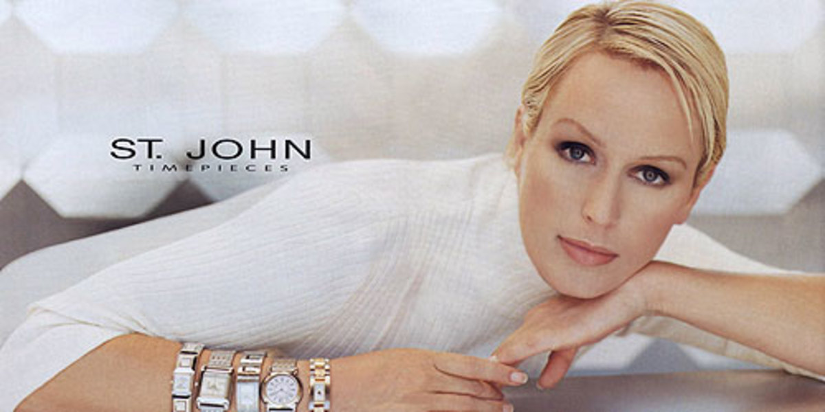Kelly Gray for one of St. John Knits first advertising campaigns