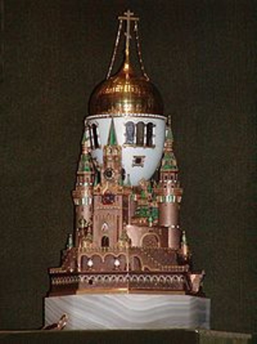 The Moscow Kremlin Fabrege egg