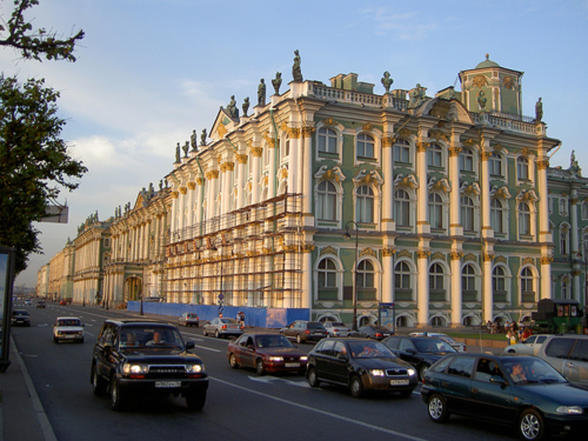 The Winter Palace, home to the Hermitage State Museum in St. Petersburg
