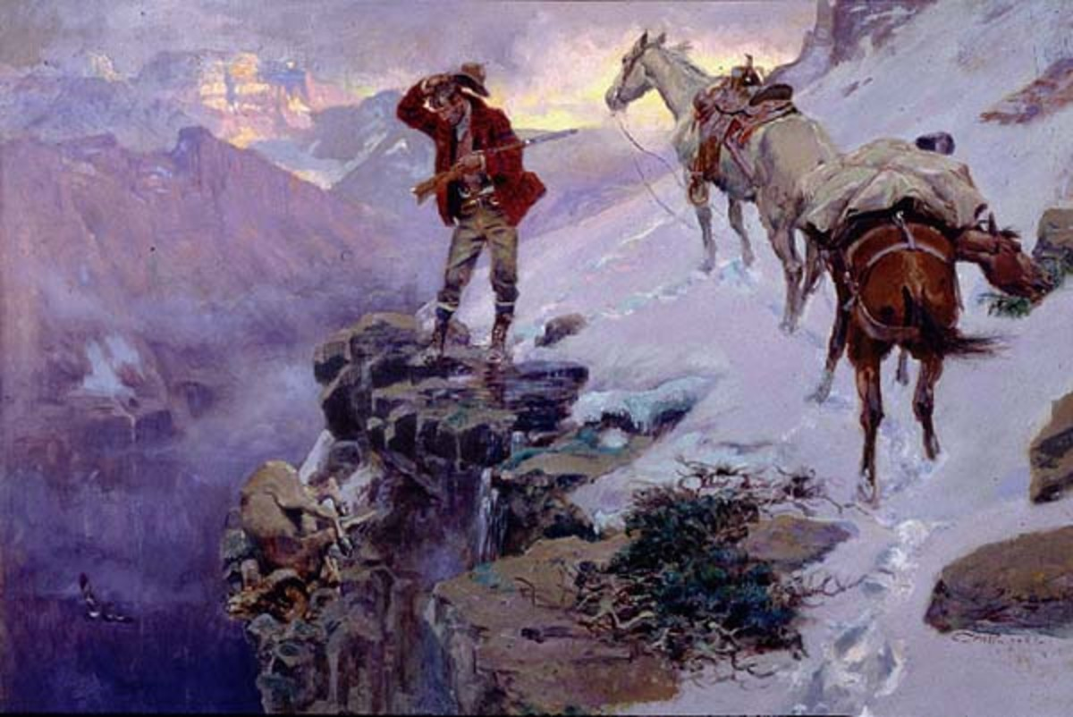 Western Framed Art found inside the Gilcrease Museum
