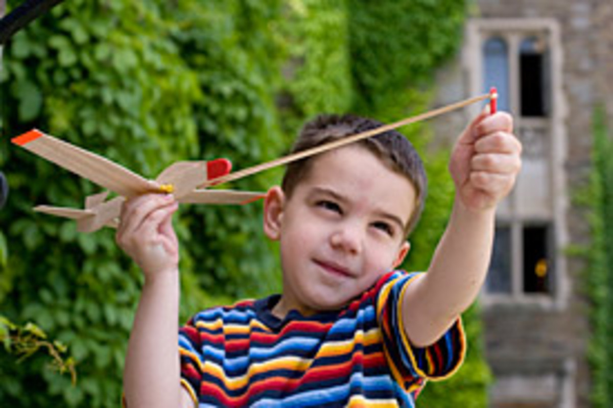 Go ahead and build a rubber band glider for your kids. Your kid will love this.