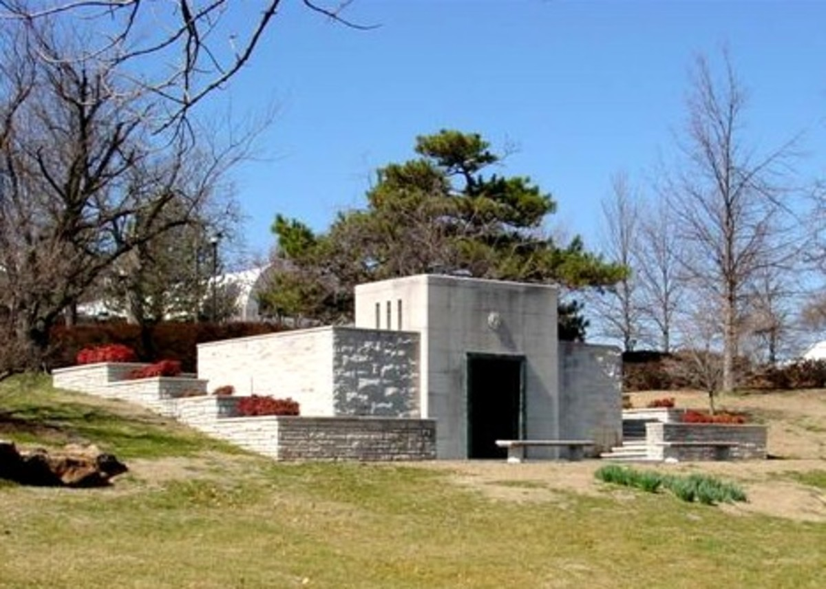 Gilcrease Mausoleum on the Gilcrease Museum Grounds