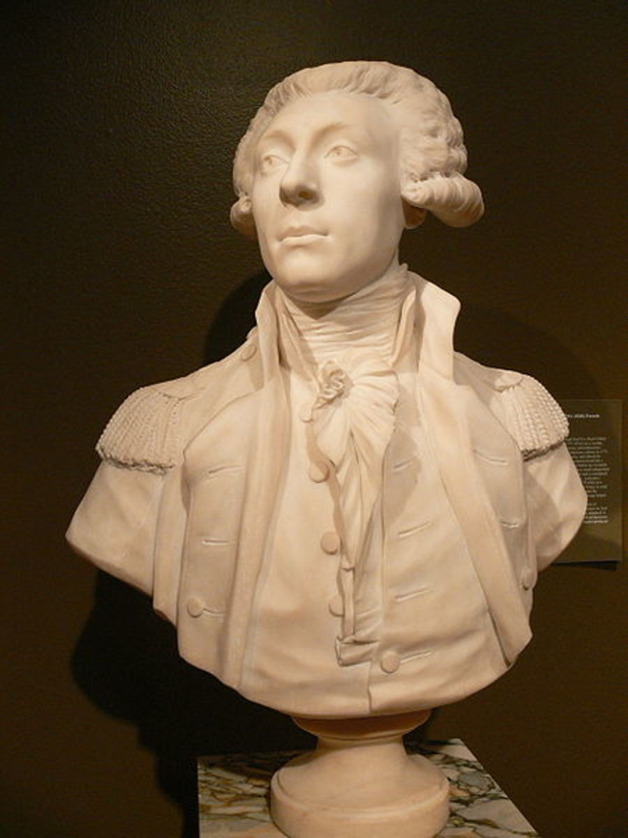 Gilcrease Art: Bust of French General Lafayette (1789) by Jean Antoine Houdon