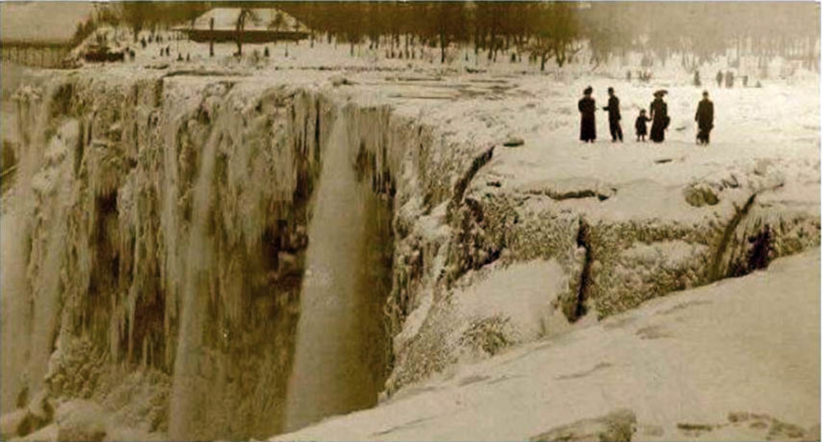 Niagara falls froze over in 1911