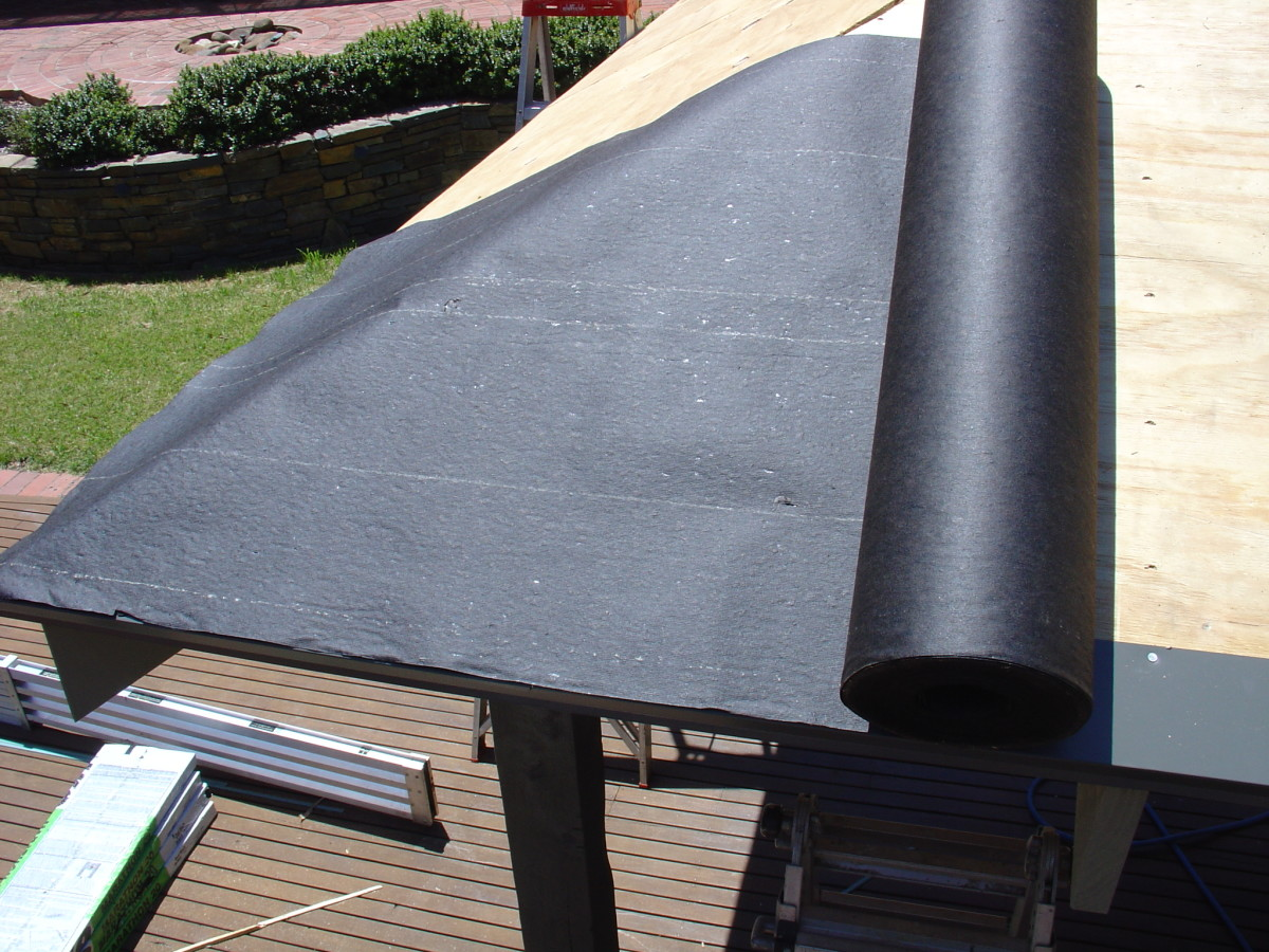 Staple down the asphalt saturated felt paper | asphalt roof shingles and roofing materials