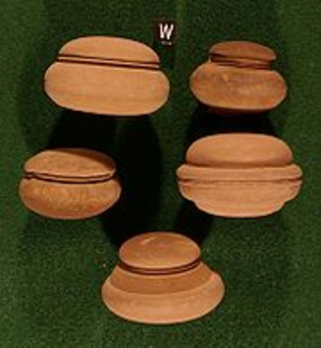 Pictures of similar calcareous concretions, which exhibit equatorial grooves, found within Schoharie County, New York.