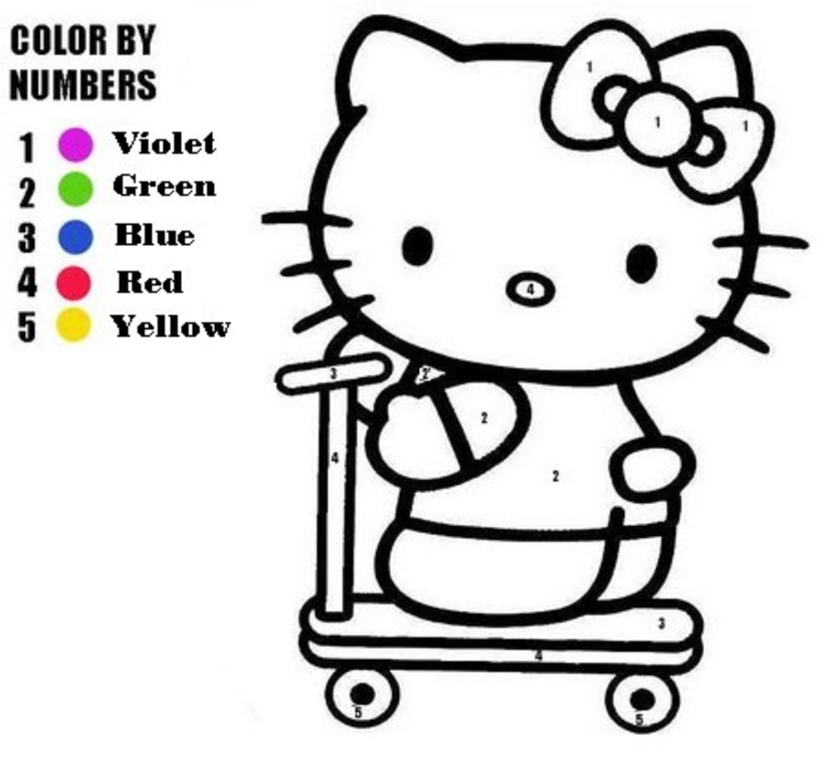 Little Kitty Kids  Coloring Pages with Colouring Pictures to Print