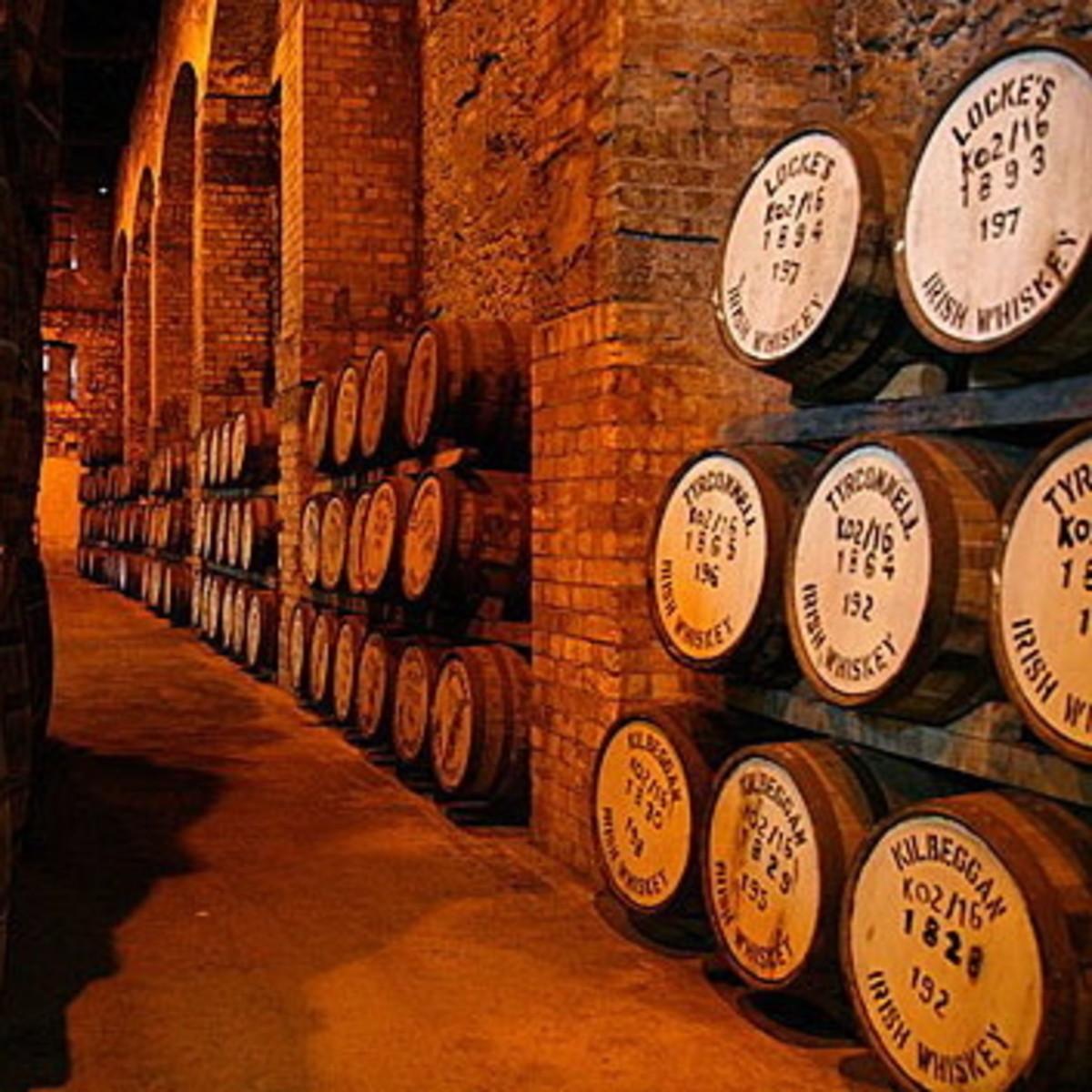 Barrels of Irish Whiskey