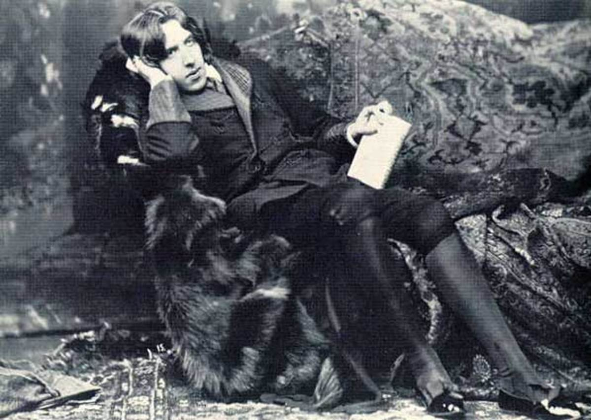 Oscar Wilde, an Irish playwright, poet and author of numerous short stories and one novel (1854)