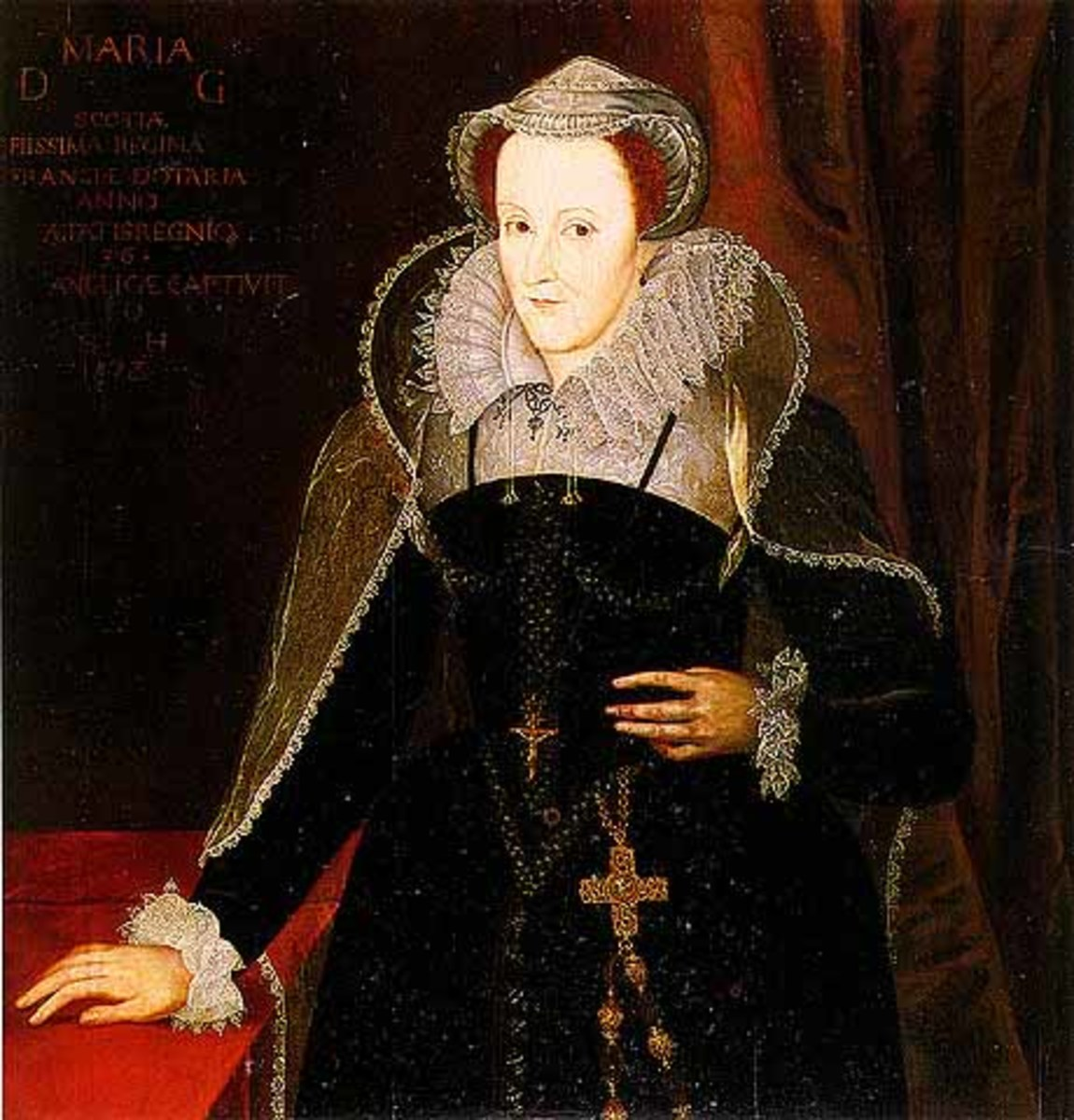 Mary Queen of Scots, Queen of Scots from 1542 to 1567 crowned at nine months of age (1542)