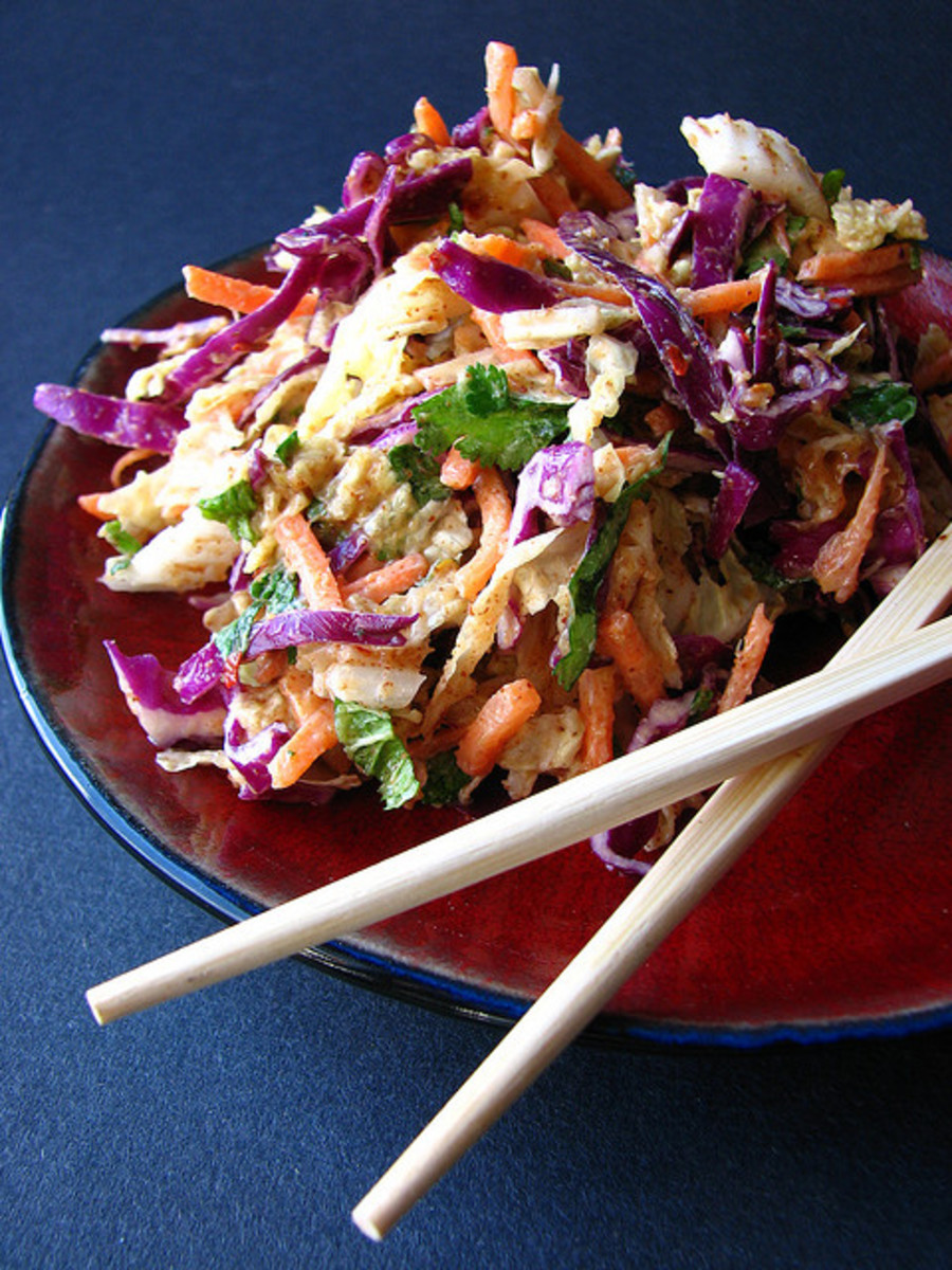 Spicy Sweet Asian Slaw Recipe (Thai)