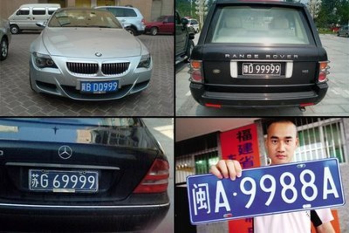 Car plate number with nine six and eight are the luckiest ones
