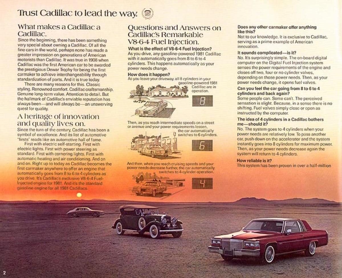 1981 Cadillac Fleetwood V-8-6-4 Ad