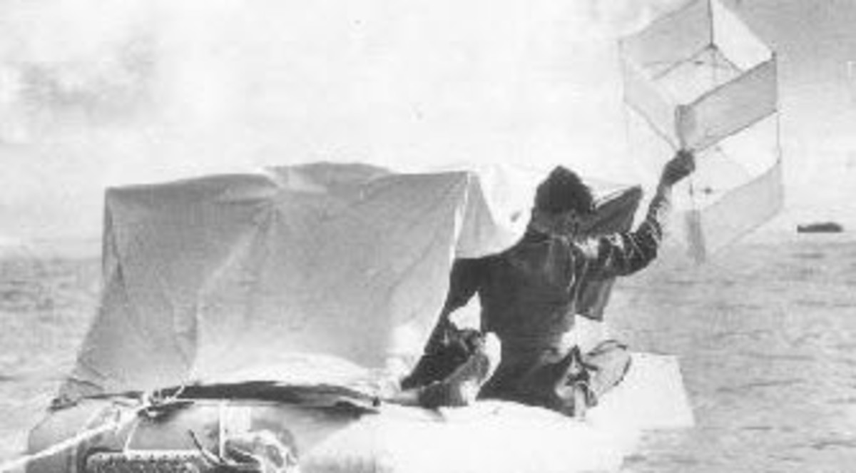 A Gibson Girl Rescue Kite Used by Downed Airmen During World War 2