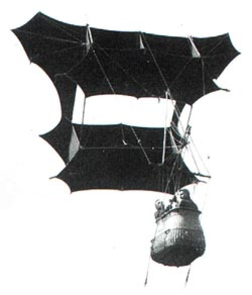 A Picture of Samuel Cody's Manlifting Kite