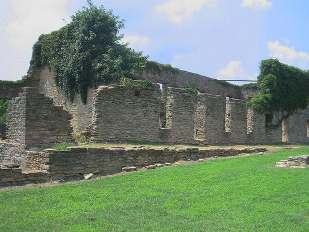 Oklahoma Civil War; Fort Washita, Oklahoma: Remains of the West Barracks.