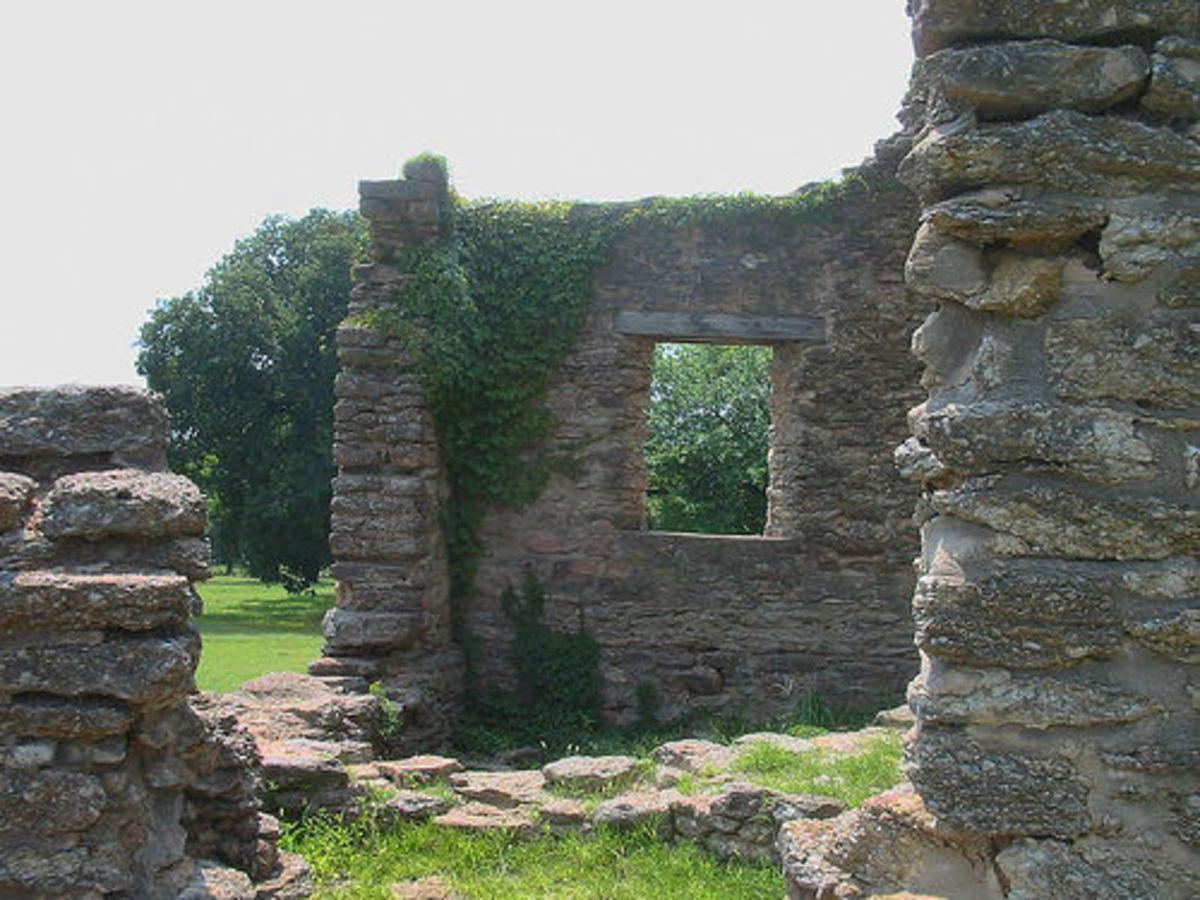 Oklahoma Civil War; Fort Washita, Oklahoma: Remains of the West Barracks.