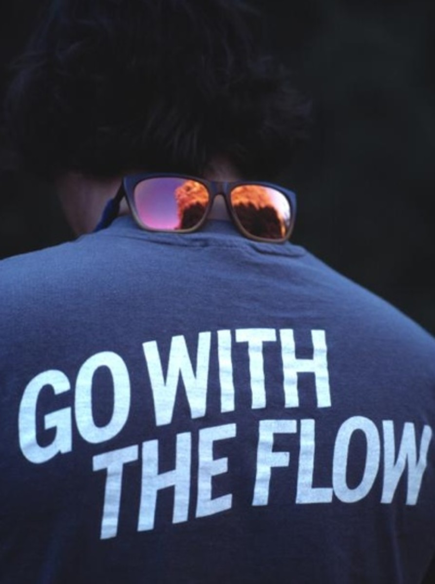 go with the flow in life