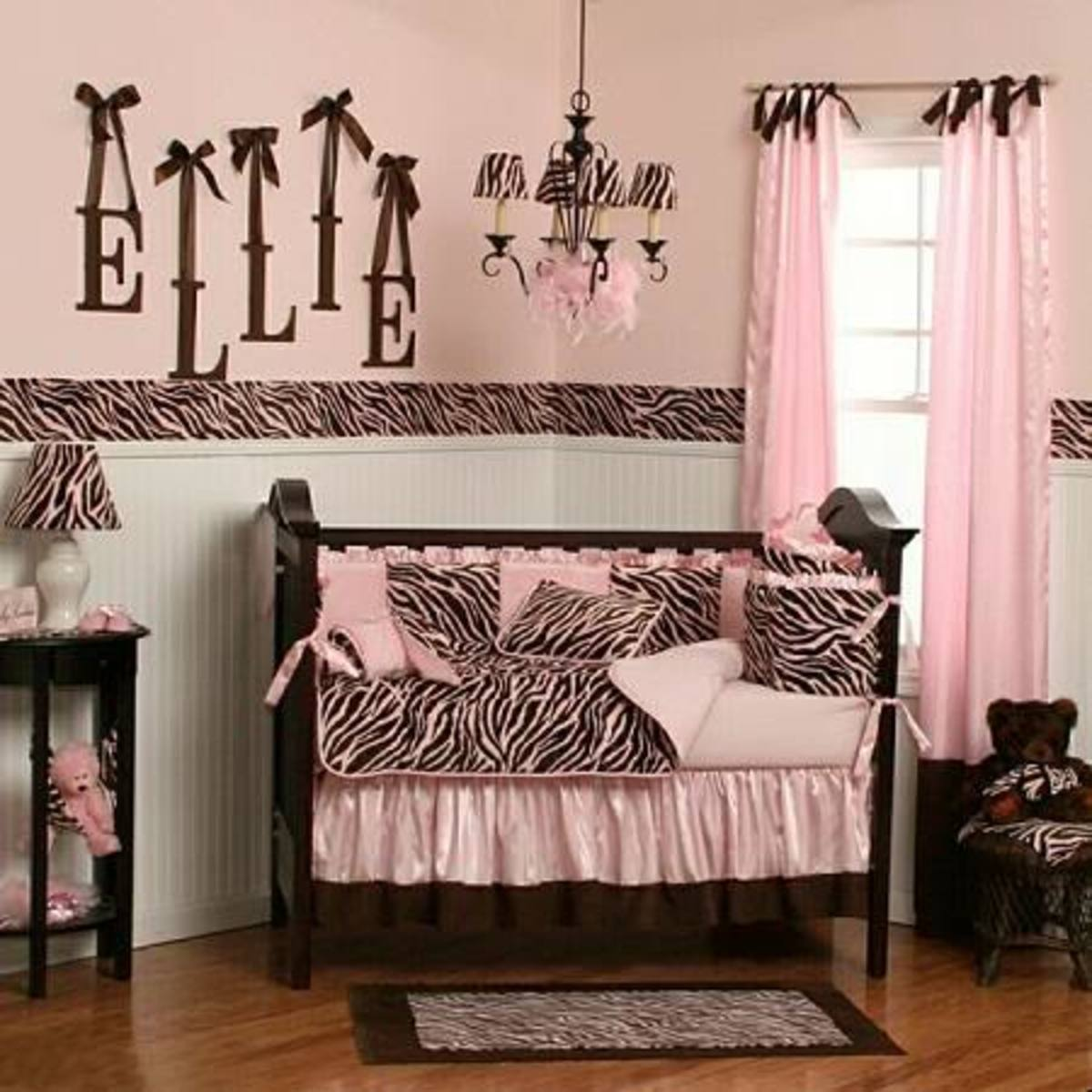Pink And Brown Room Theme Baby Room Living Room Bedroom