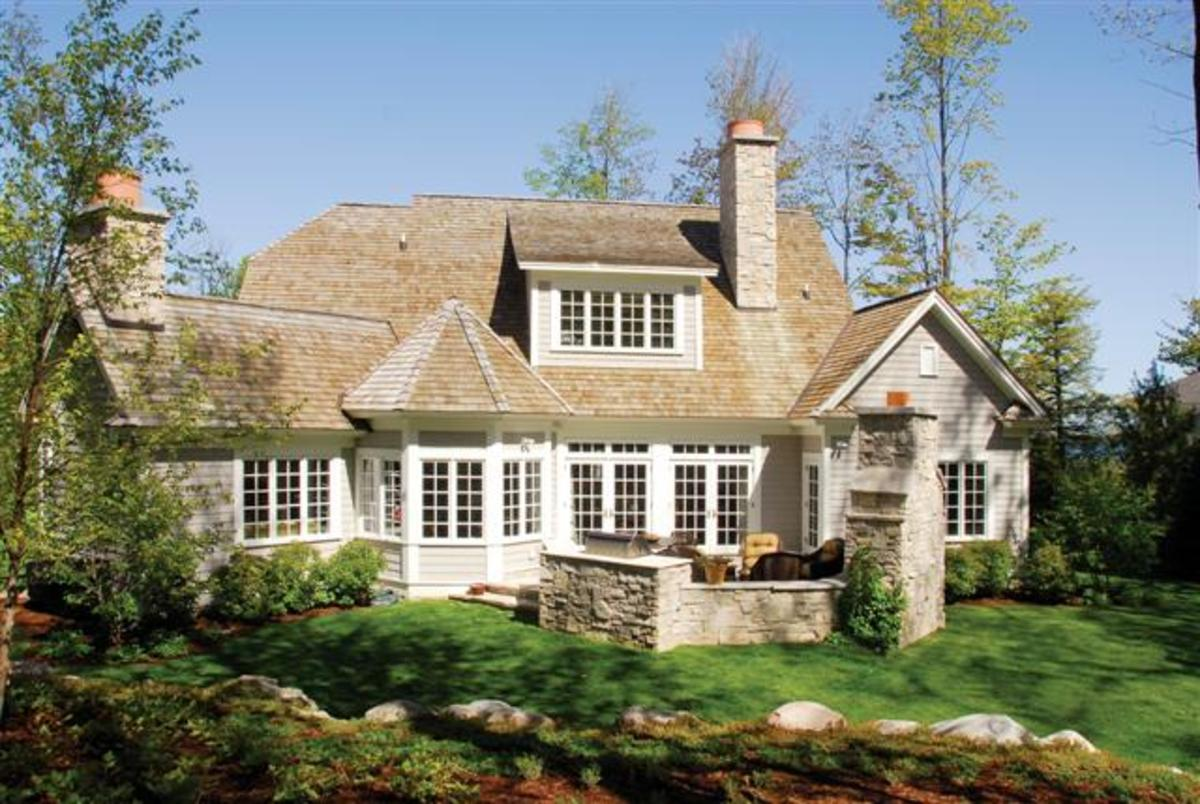 A cottage style house plan that replicates an older cottage style appearance.
