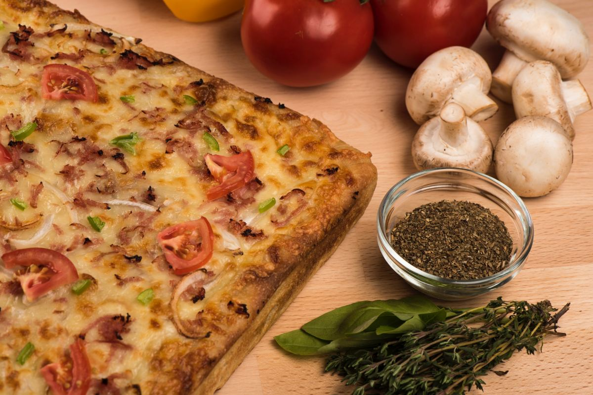 Oregano is a popular flavoring for pizza.