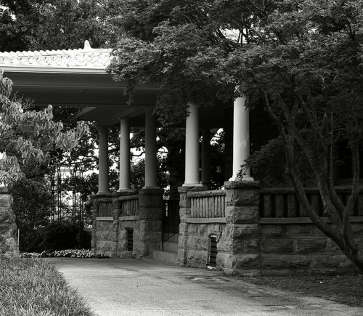 Tulsa Attractions:  The Gilcrease Mansion on the Grounds of the Museum