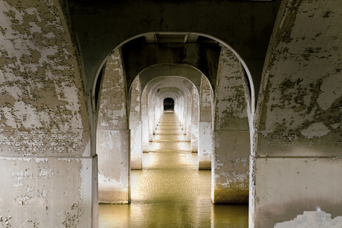 Tulsa Attractions: Under the 21st Street Bridge in Tulsa