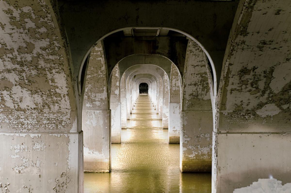 Tulsa Attractions: Under the 21st Street Bridge in Tulsa